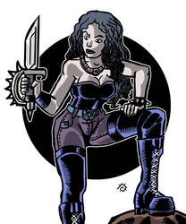 Extreme Aggressive Metalhead Female by andycorsant
