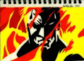 Batman-Fire by El-Fox
