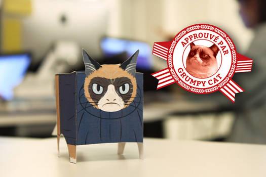 Grumpy Cat Paper Toy