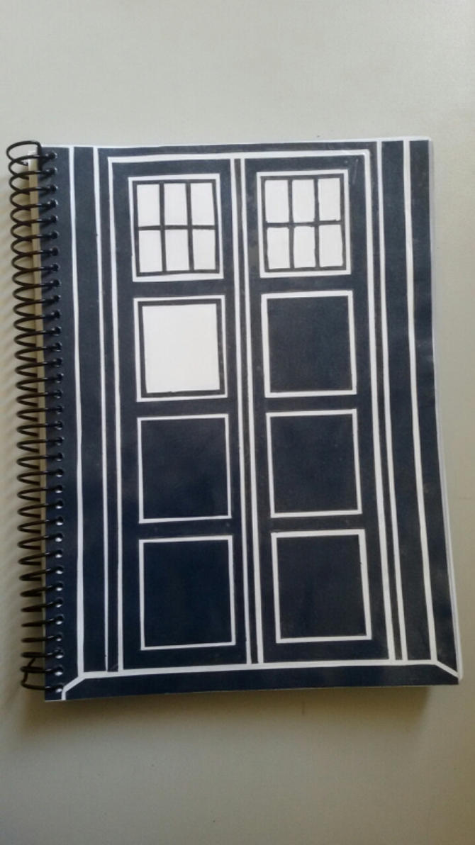 TARDIS Notebook Cover by LordSatoh