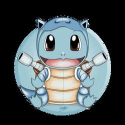 Squirtle as Blastoise