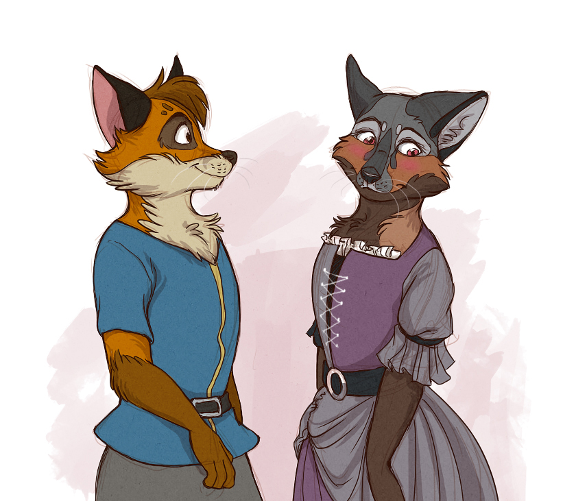 Amber and Rusty by Saphamia