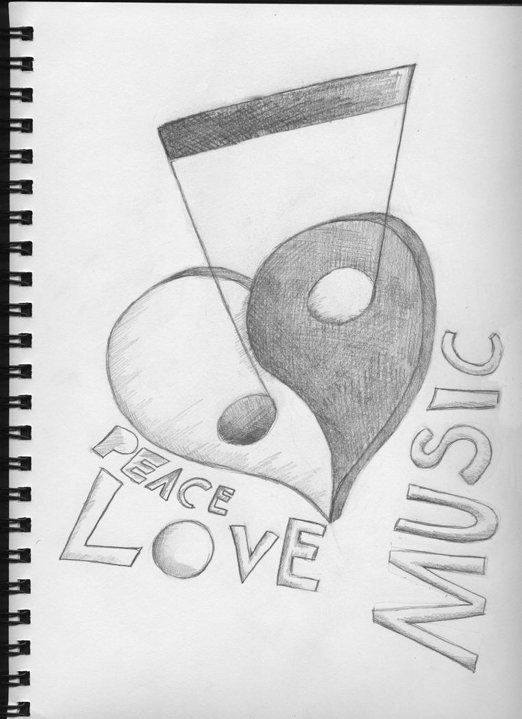 Peace, Love, Music by Neverpurple on DeviantArt