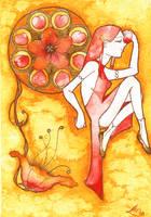 Golden Peach by deathlotus