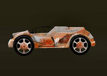 Post Apocalypse Car by EOW-C