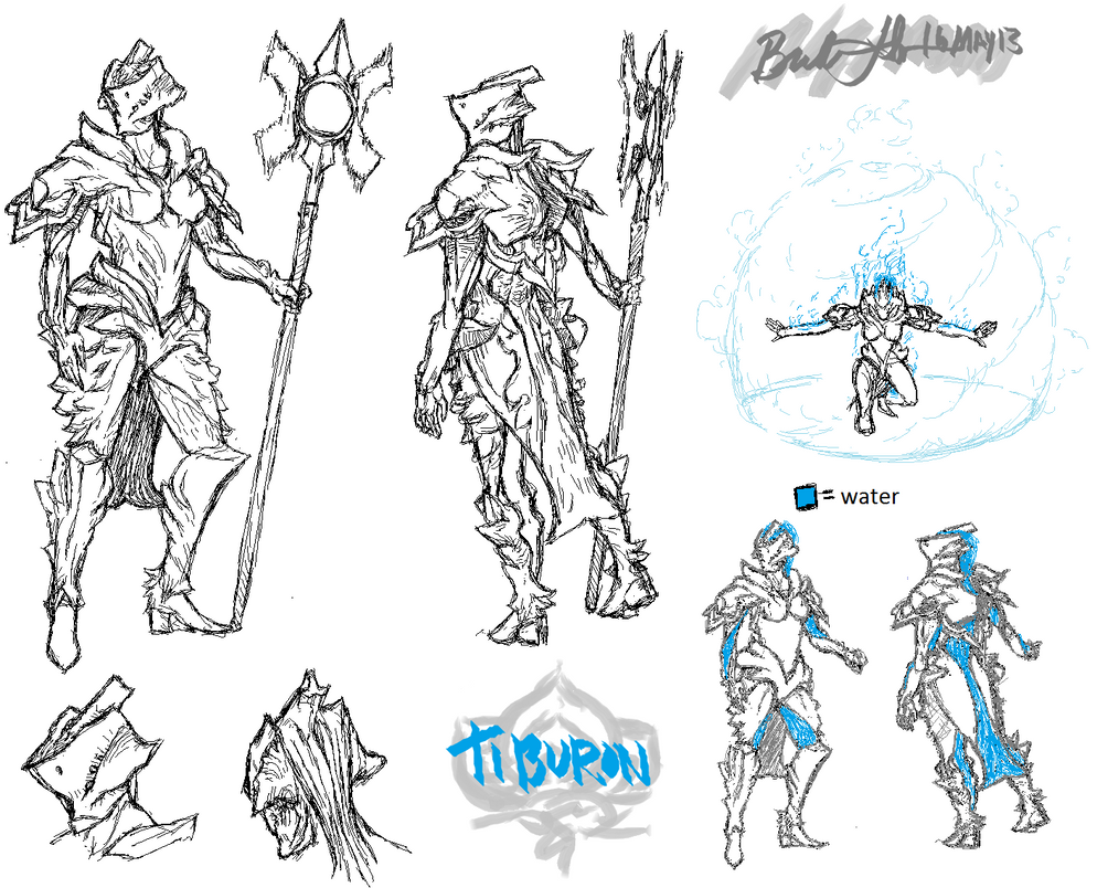 Warframe Concept] Water Frame Tiburon + Concept Art! - Fan Concepts ...