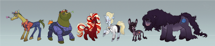 pony oc lineup.  in 2018. by suriguri