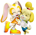 Cream and Isabelle.