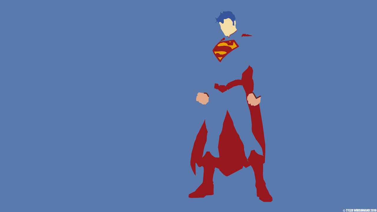 Minimalistic superman wallpaper by skilledgraphics on for Deviantart minimal wallpaper