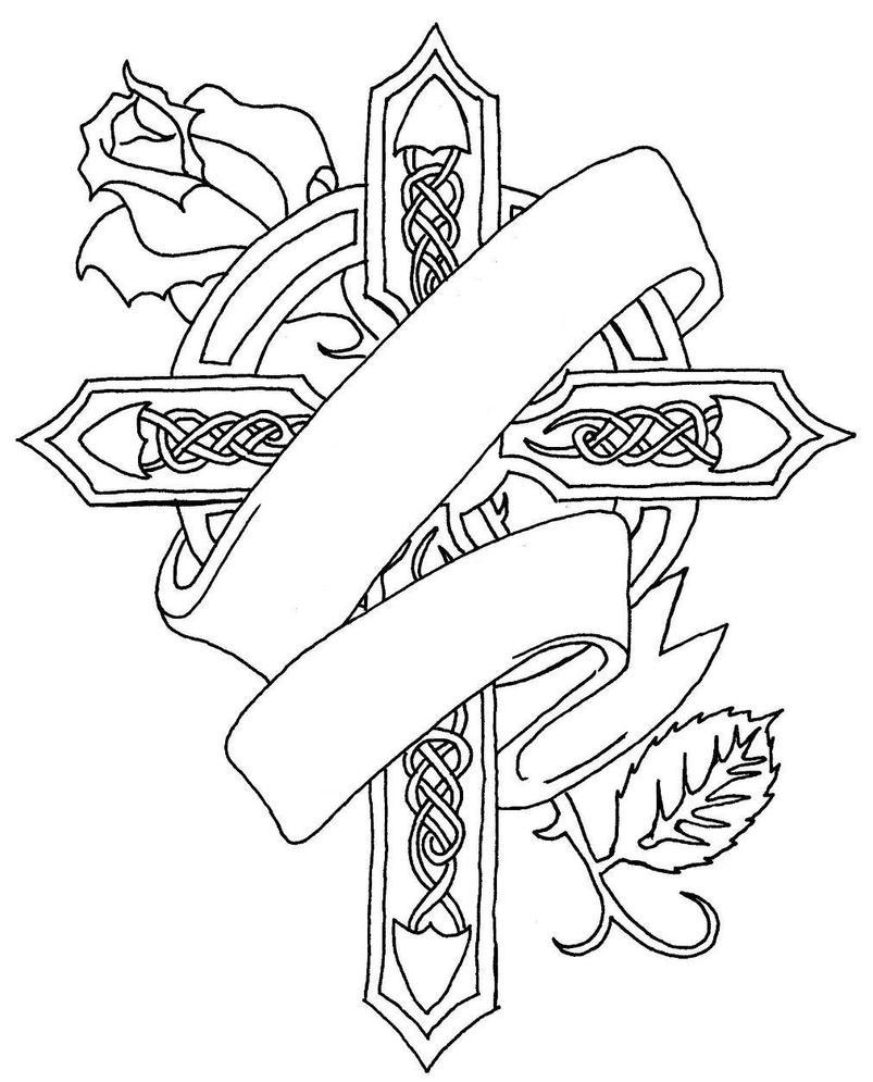 Memorial Cross Drawings Tattoos