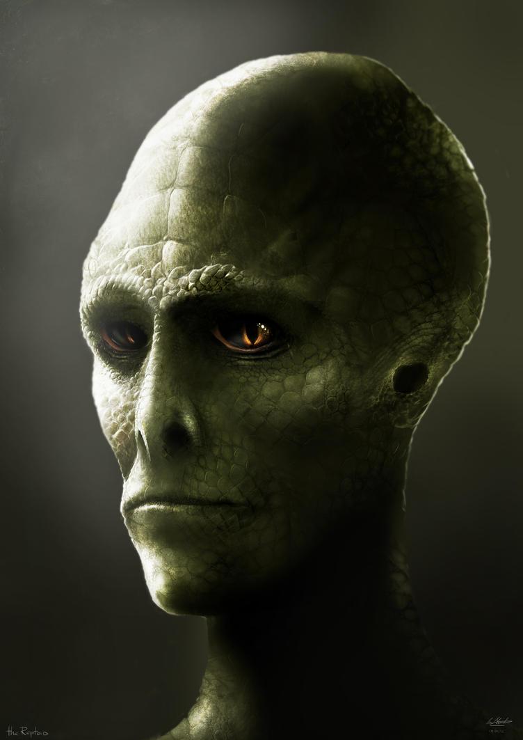 Reptilian humanoid by lukemandieart