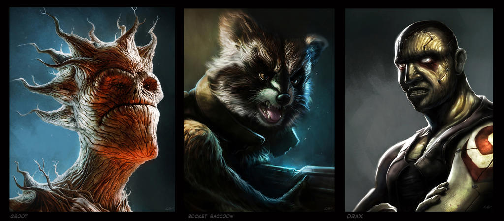 Guardians of the Galaxy FAN ART by lukemandieart