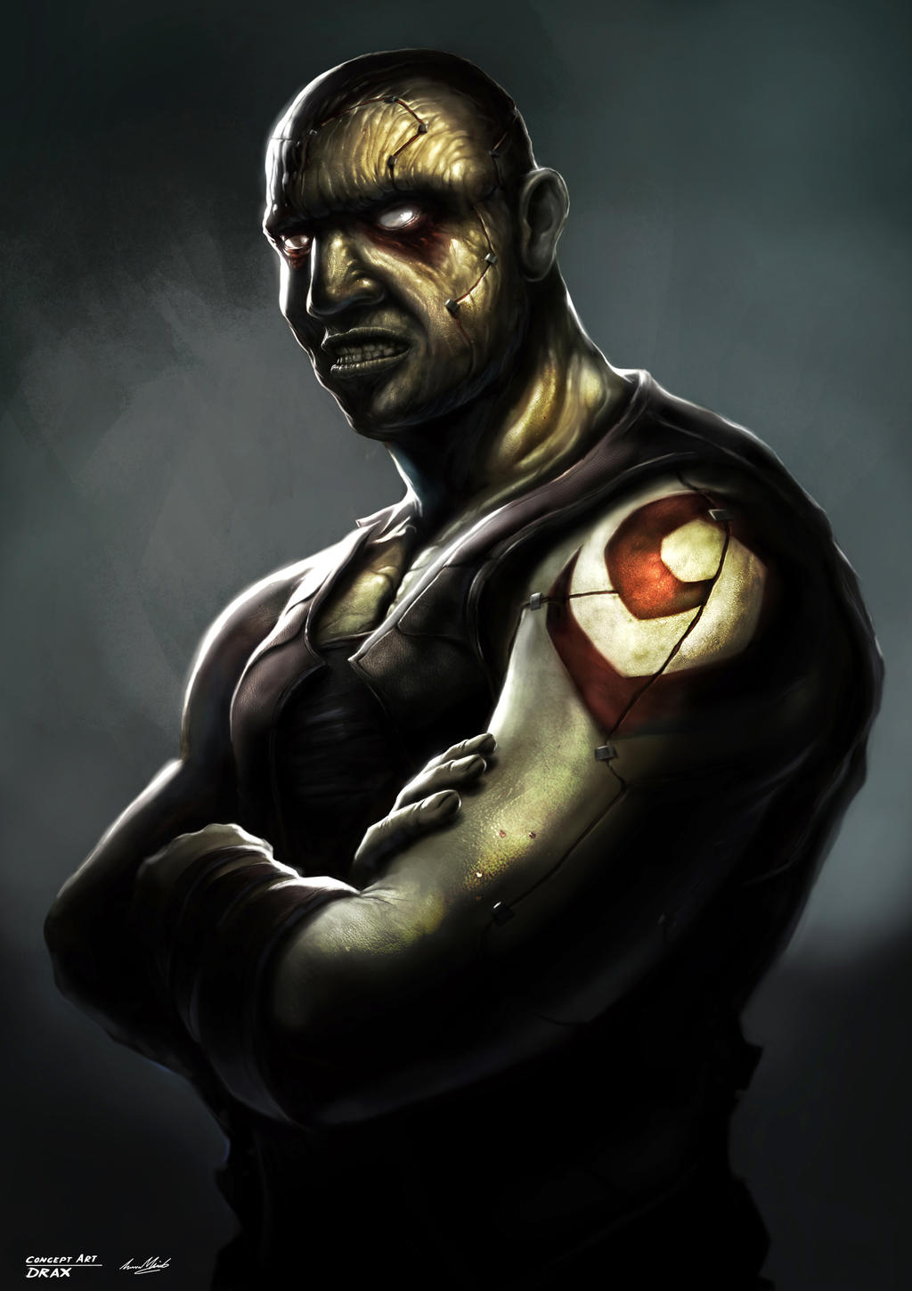 Drax the Destroyer by lukemandieart