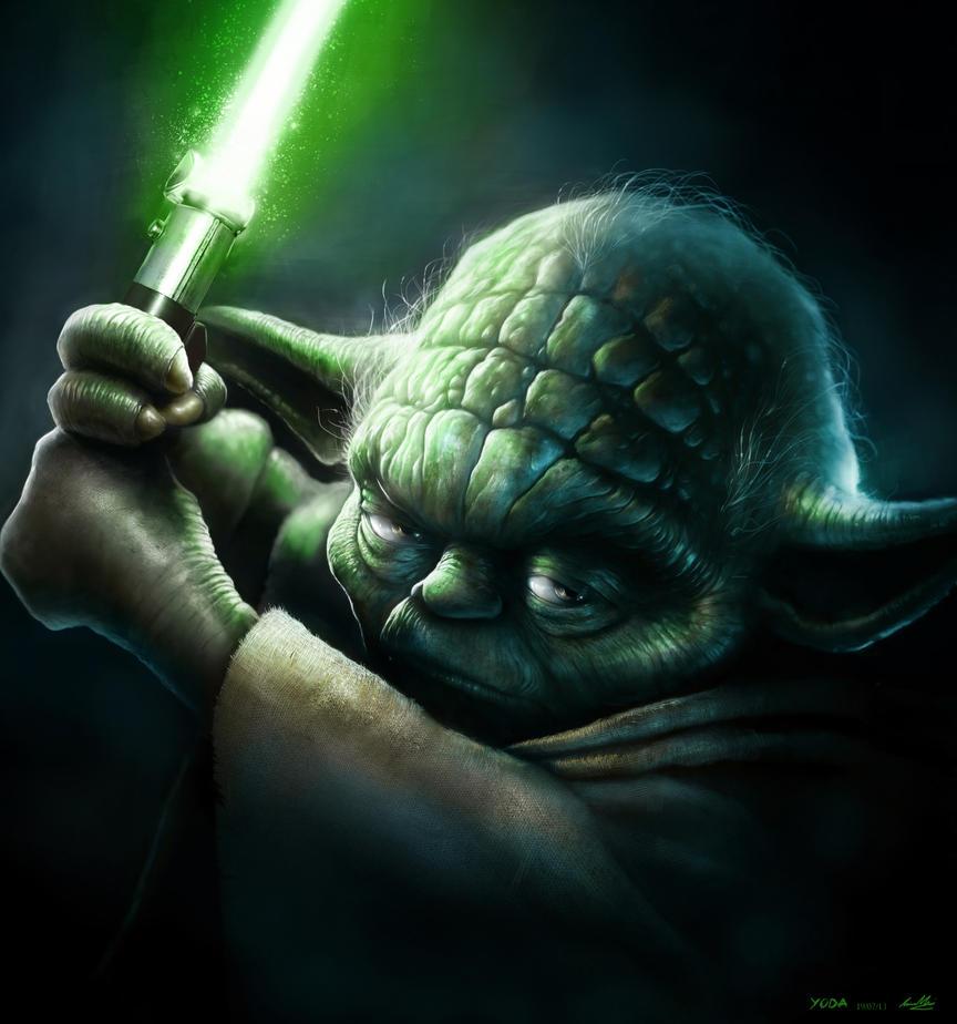 Jedi Master by lukemandieart