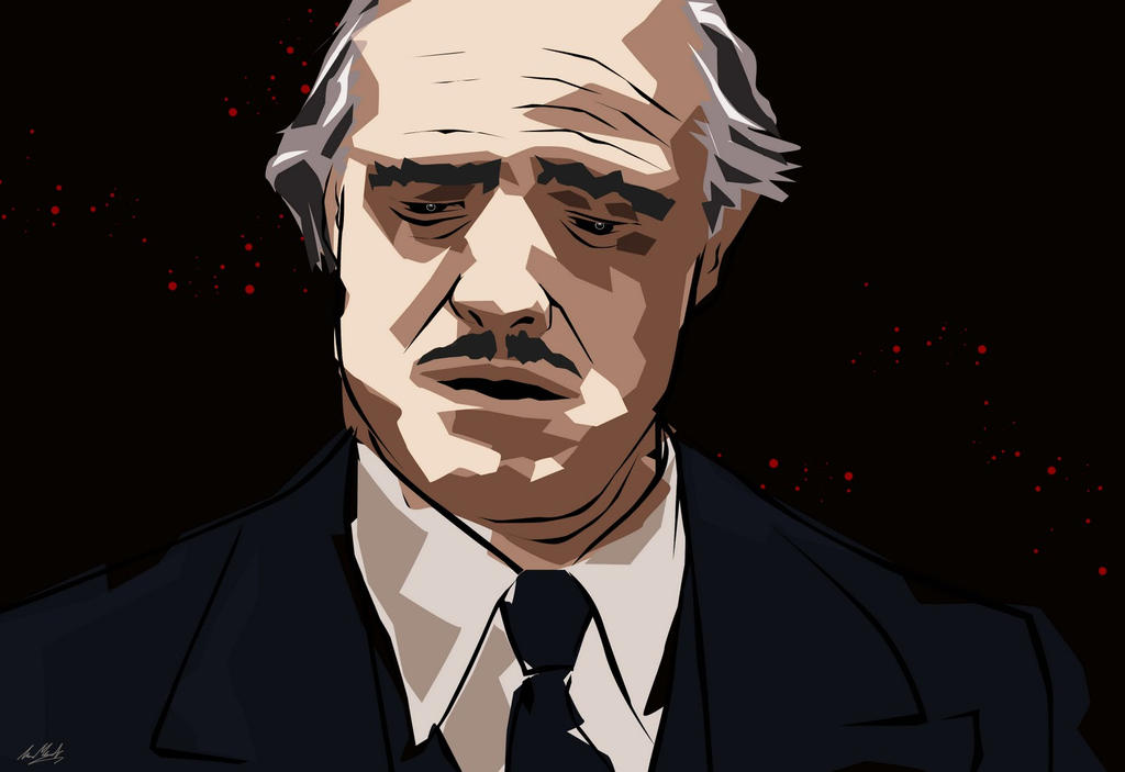 Don Corleone by lukemandieart
