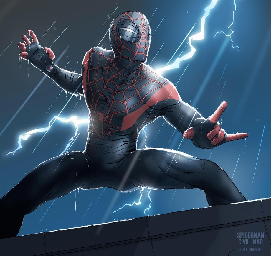 SPIDER MAN by lukemandieart