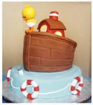 Bottle Overboard cake