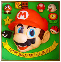 Super Mario Bros cake by Cakerific