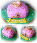pink jewelry box cake