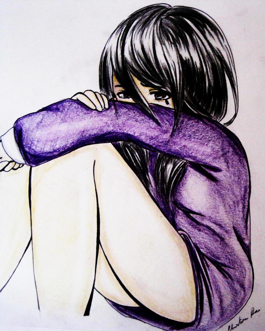 girl crying by BlackYukito on DeviantArt