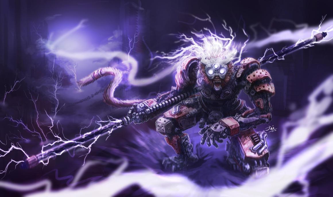 Cyborg Wukong : Escape from Zaun by samuraijaii