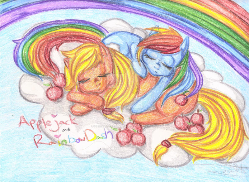 Apples and Rainbows by PaletteOfRainbows