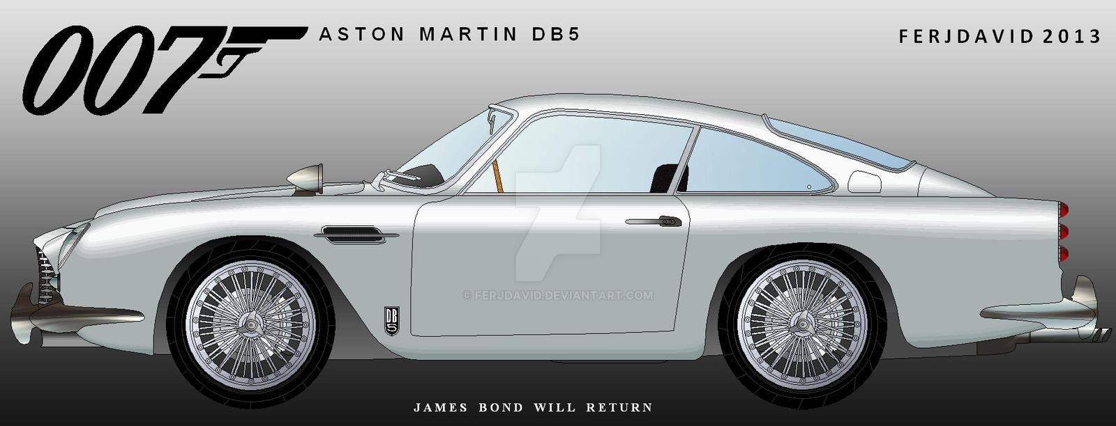 James Bond 007 Sean Connery Aston Martin Db5 By Ferjdavid On Deviantart