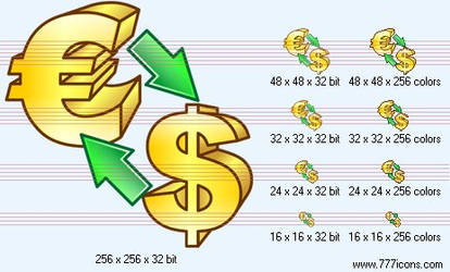 Conversion of currency Icon