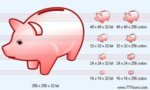 Piggy-bank Icon by money-icons