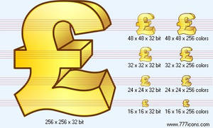 Pound sterling Icon by money-icons
