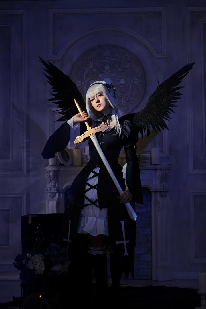 Suigintou. Black wings by Odango-datte