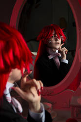 Grell the reaper and her reflection