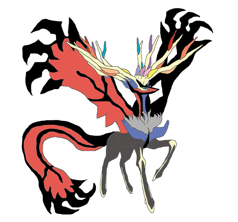 Pokemon Fusion: Xerneas + Yveltal (test) By Prectarium93