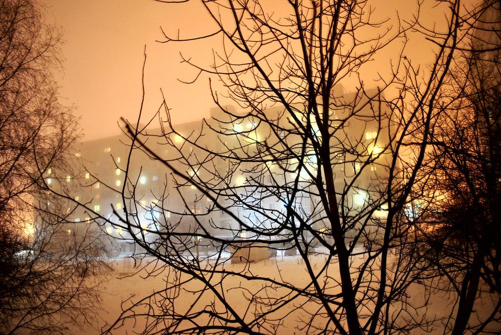Shinig Christmas street by ItSurroundsMe