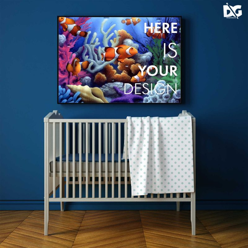 Free Premium PSD Room Wall Poster Mockup by Freebiedesign on DeviantArt