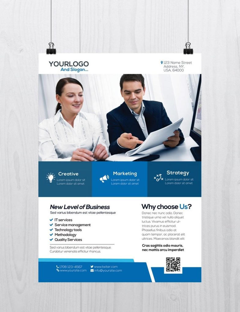 Corporate Flyer Template Download Free Psd Flyers By Freebiedesign