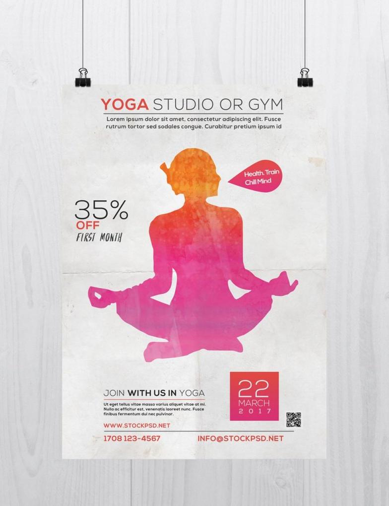 Yoga Studio Free PSD Flyer Template by Freebiedesign on DeviantArt