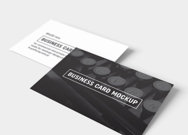 free black white business card mockup psd template by freebiedesign - Business Card Mockup Psd