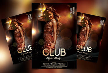Club Night Party Free PSD Flyer Template by Freebiedesign
