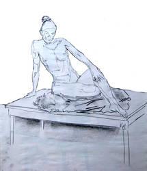 nude reclining by GlenRandom