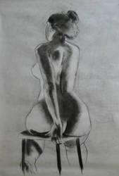 nude seated by GlenRandom