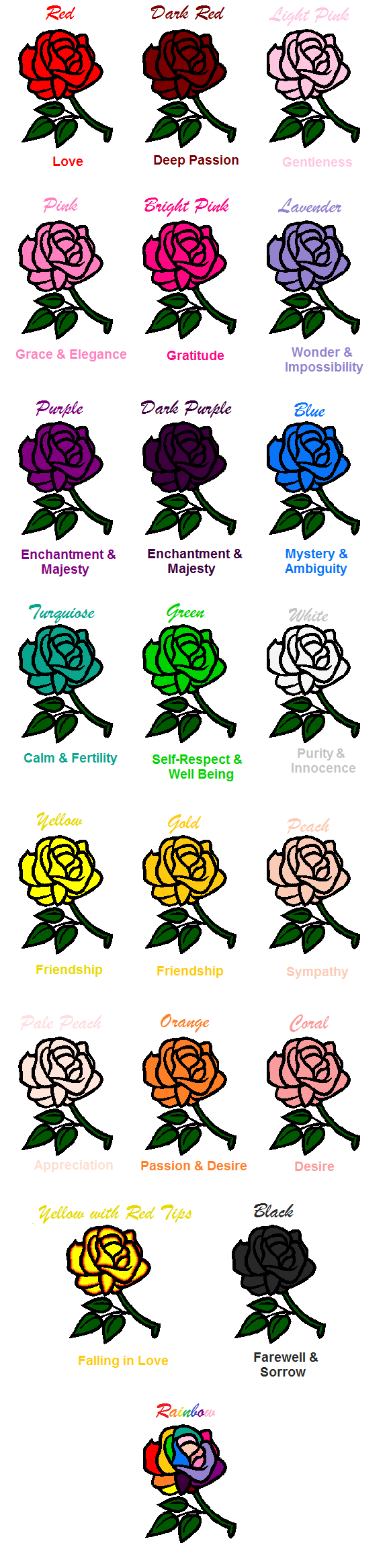 Color meanings by arianatheechidna on deviantart rose color meanings by arianatheechidna rose color meanings by arianatheechidna buycottarizona Choice Image