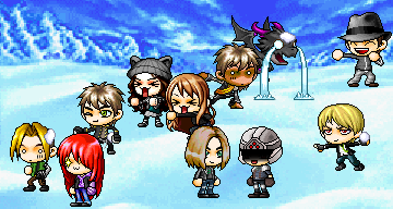 MapleStory Pic: SNOWBALL FIGHT! by ArianatheEchidna