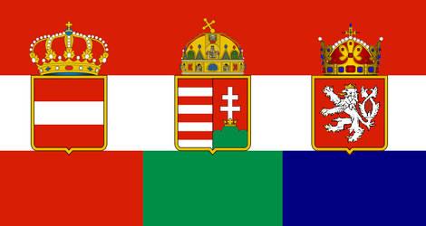 Austria-Hungary-Bohemia flag by kyuzoaoi