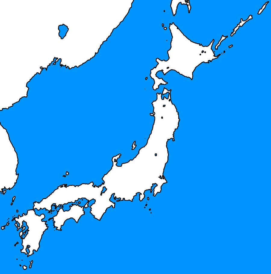 Blank map of Japan template by kyuzoaoi on DeviantArt