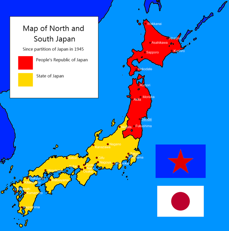 Divided Japan Since By Kyuzoaoi On DeviantArt - Japan map 1945