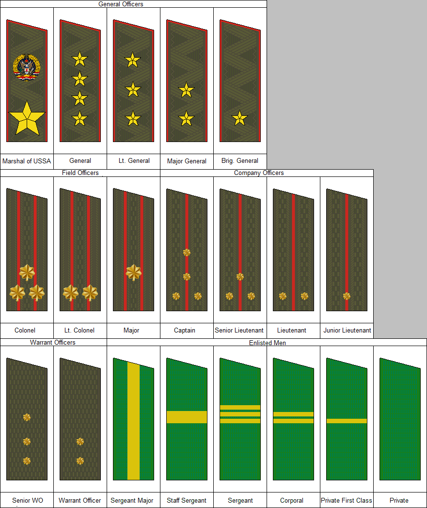 Rank Insignia of the American People's Army by kyuzoaoi on ...