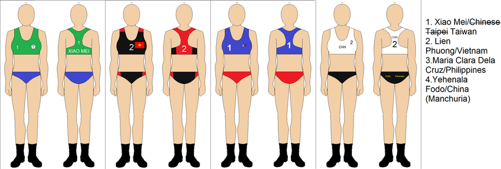 Some Set Of Beach Volleyball Uniforms By Kyuzoaoi