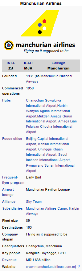 Manchurian Airlines Infobox by kyuzoaoi