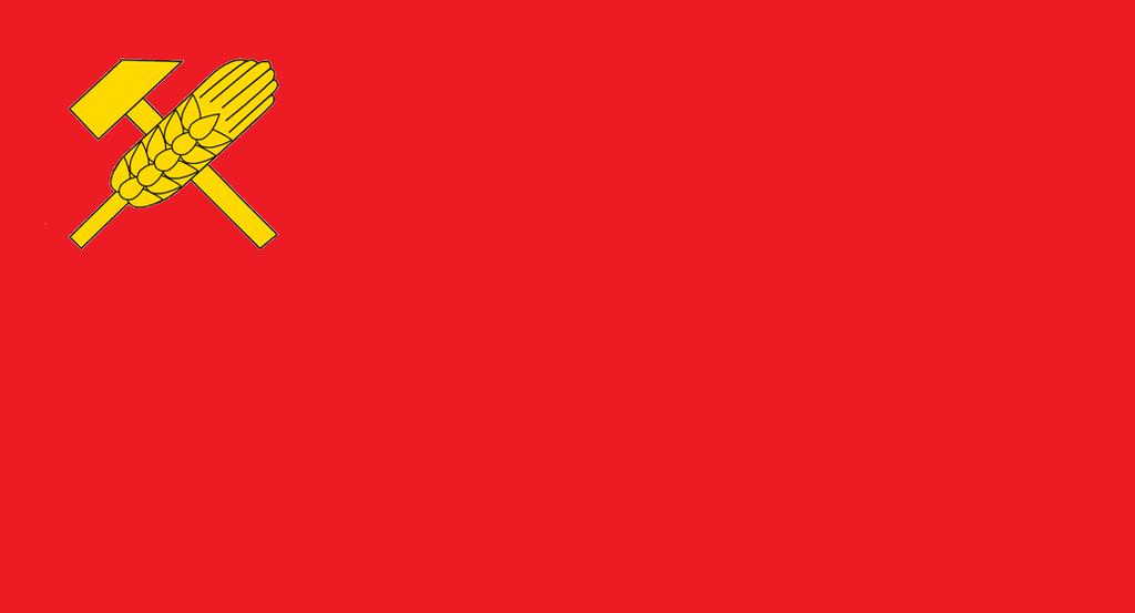 Flag of the Danubian Federation of Soviet Republic by kyuzoaoi